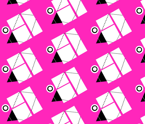 Origami  hot pink fabric by betz on Spoonflower - custom fabric