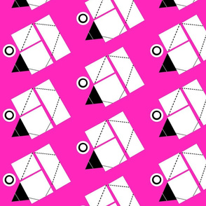 Origami  hot pink