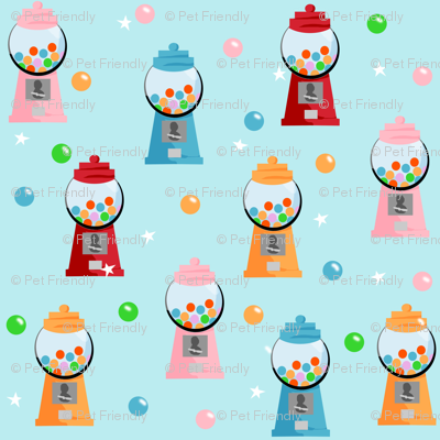 Gumball fabric - sweets gumball candy design