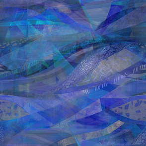Aquamarine cobalt blue abstract