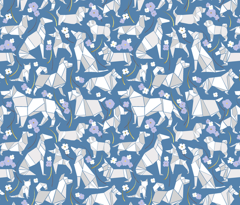 Who Let the Dogs Out! fabric by natalee_wegmann on Spoonflower - custom fabric
