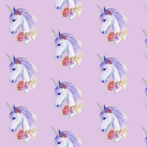 purple watercolour unicorn