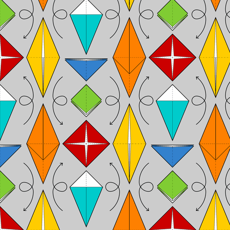 07179718 : origami bases fabric by sef on Spoonflower - custom fabric