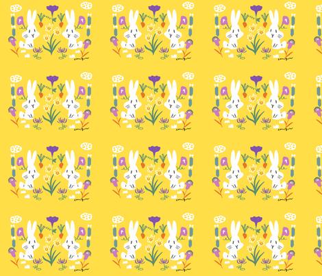 rabbit-sp fabric by canigrin on Spoonflower - custom fabric