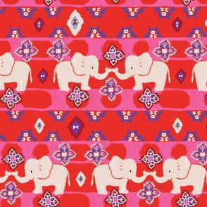 Elephant folk design, Kilim carpet