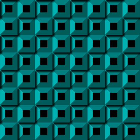 Barnacle Pattern - Turquoise fabric by stradling_designs on Spoonflower - custom fabric