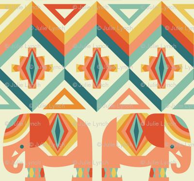 elephant kilim