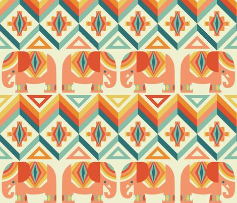 elephant kilim fabric by cjldesigns on Spoonflower - custom fabric
