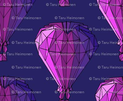 Origami balloons purple tarutuulikki