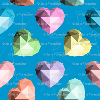 Colorful Origami Hearts