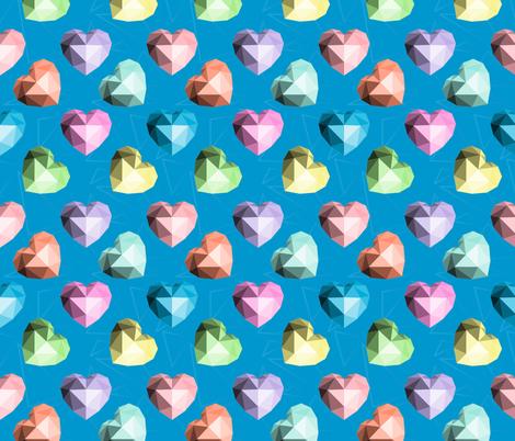 Colorful Origami Hearts fabric by julia_faranchuk on Spoonflower - custom fabric