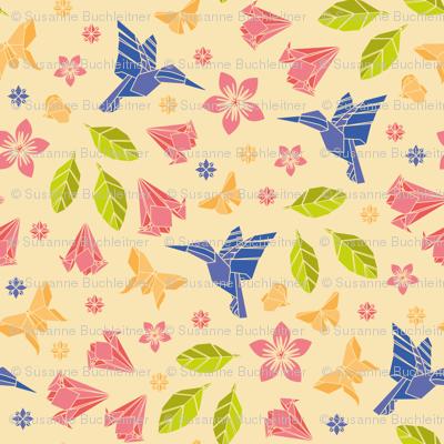 origami humming spring