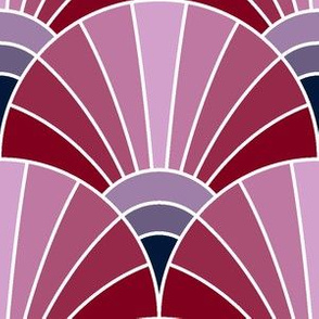 07180455 : fan scale : navy orchid burgundy
