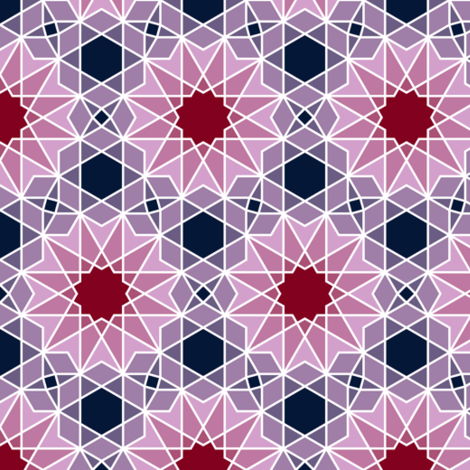 07180650 : SC64 V2and4 : navy orchid burgundy fabric by sef on Spoonflower - custom fabric