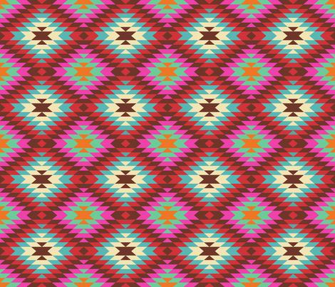 Turkish Kilim Large Pattern fabric by artsytoocreations on Spoonflower - custom fabric