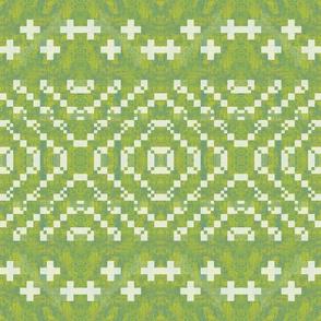 green kilim design