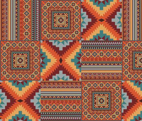 Paprika Bazaar fabric by fabric_rocks on Spoonflower - custom fabric