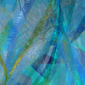 abstract ribbons in blue