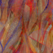 Copper paprika abstract ribbons