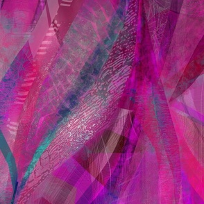 Magenta purple abstract ribbons
