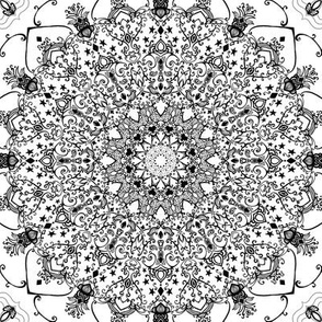 Mandala Project 606 | Black and White