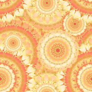 Delicate Mandala Pattern orange