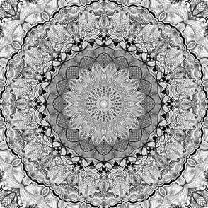 Project 632 | Black and White   Mandala