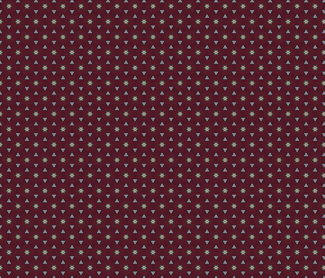 Bordeaux Collection: Stars and Triangles fabric by pearlposition on Spoonflower - custom fabric