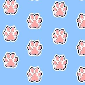 Furry paw print