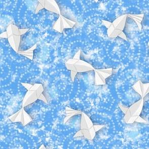 Origami Koi Fishes (Sky-Pond Version)