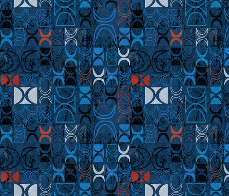 Halekahiki Glyphs 4c fabric by muhlenkott on Spoonflower - custom fabric