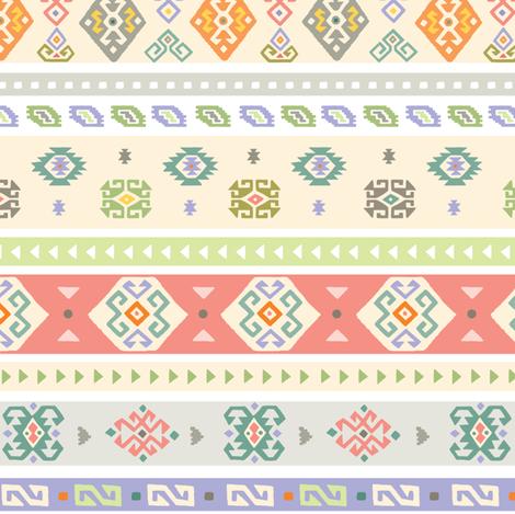 kilim hooray fabric by andibird on Spoonflower - custom fabric