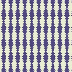 Ziggurat stripes - violet and cream