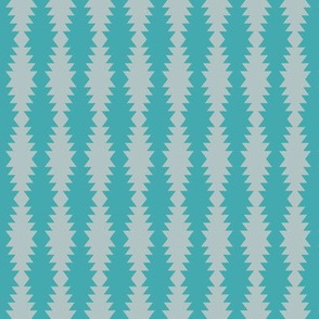 Ziggurat stripes - grey and turquoise