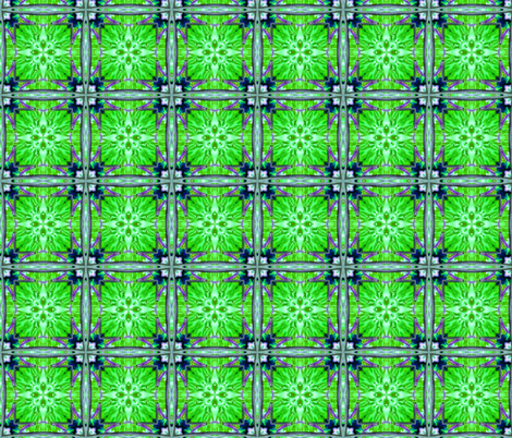 Green flowers-Tessela fabric by koalalady on Spoonflower - custom fabric