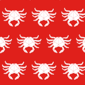 low polygon crab in red