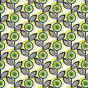Footnote Flower* (Grass) || midcentury modern garden floral flowers leaves nature spring summer lime chartreuse upholstery