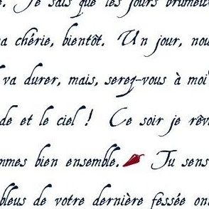 lettre d'amour griffonnage orchid marine blanc