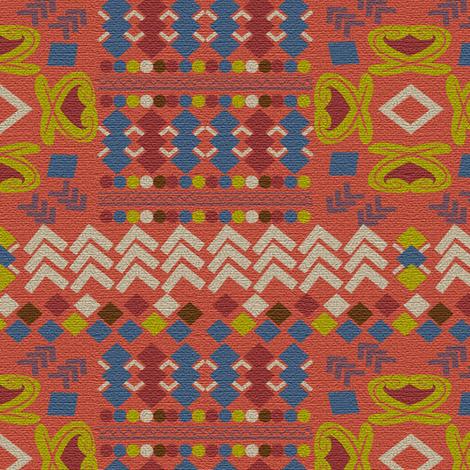 Portakal, Turkish Kilim,  geometric shapes fabric by applebutterpattycake on Spoonflower - custom fabric
