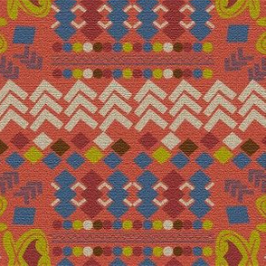 Portakal, Turkish Kilim,  geometric shapes