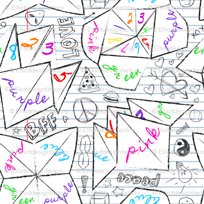 90's Notebook Origami Fortune Tellers