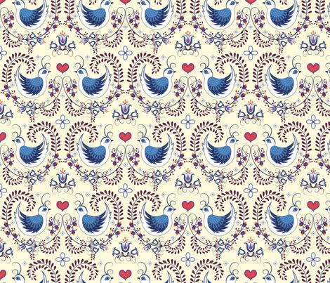 Love Doves fabric by rowena_lynn_designs on Spoonflower - custom fabric