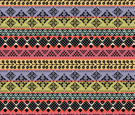 Colorful Kilim fabric by cathleenbronsky on Spoonflower - custom fabric