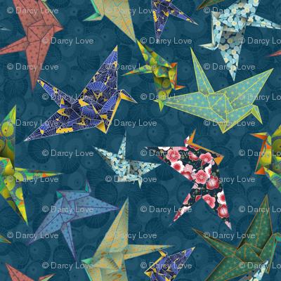 Washi Origami Cranes