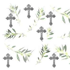 Crucifix with olive branches Catholic
