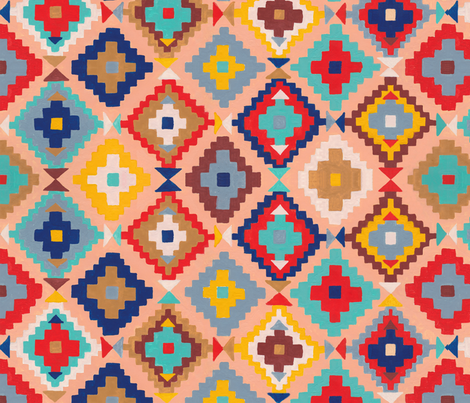 bright modern kilim fabric by caitlin_jo_studio on Spoonflower - custom fabric
