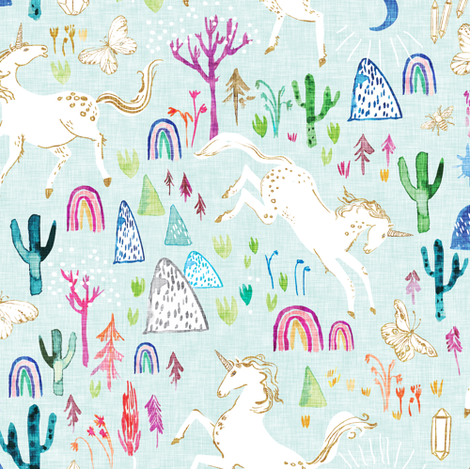 Unicornicopia (skye) fabric by nouveau_bohemian on Spoonflower - custom fabric