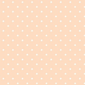 Polka dot on peach