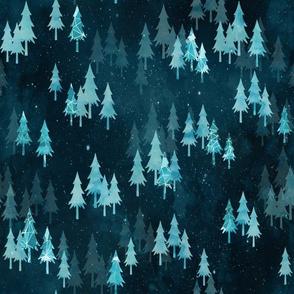 Ice Forest Dark - Snow Deer Coordinate