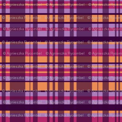 Checkered Purple & Orange